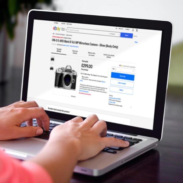 eBay Angebot auf Laptop-Bildschirm