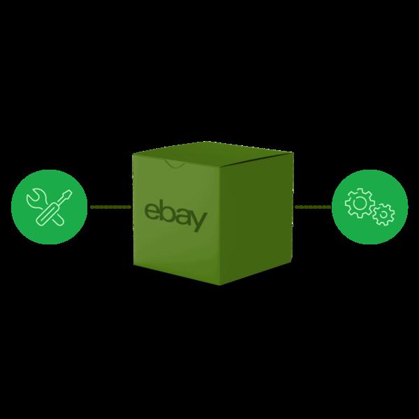 grünes Paket + Icons