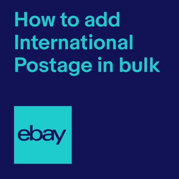 add postage international listings in bulk