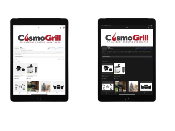 Sample Shopfront iPad