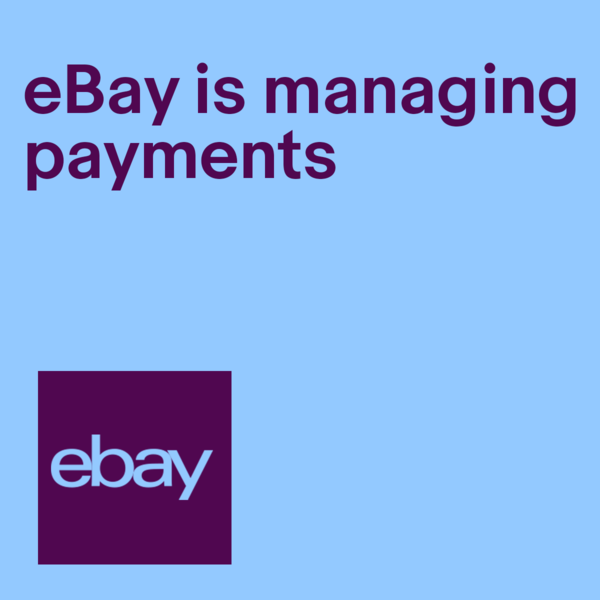 eBay is managing payments