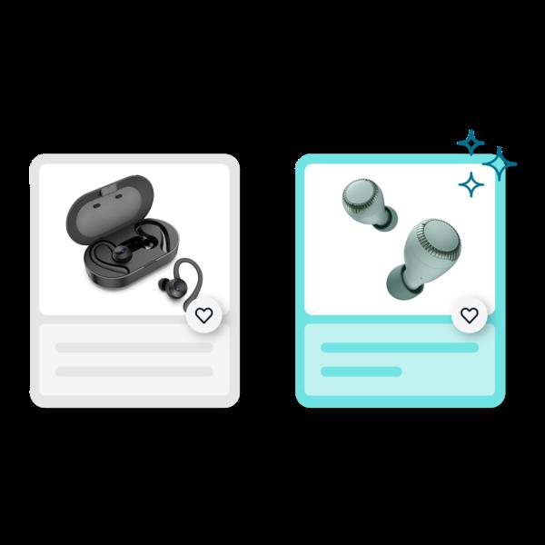 Angebot mit Kopfhörern
