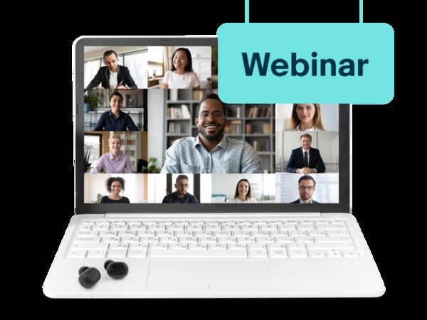 Bildschirm mit Teilnehmenden eines Online-Meetings