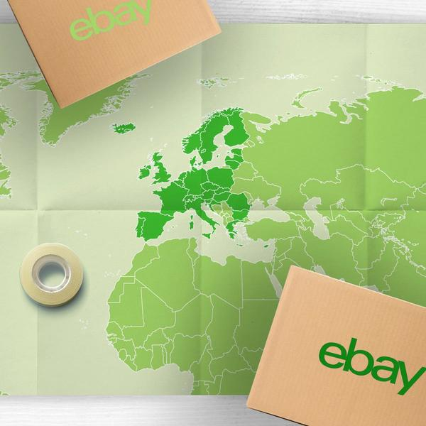 Weltkarte mit Paketen