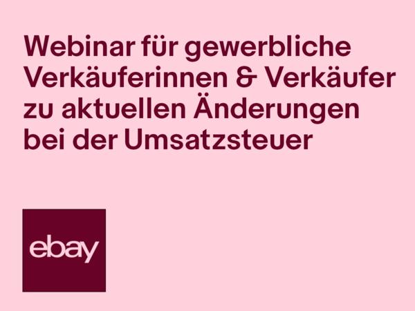 Webinar für gewerbliche VerkäuferInnen